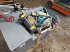 STILLAGE OF SCRAP POWER TOOLS