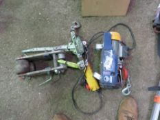 250KG ELECTRIC HOIST, CABLE PULLER PLUS BEAM RUNNER UNIT, DIRECT FROM COMPANY LIQUIDATION