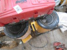 2no. Yellow heaters plus tool box