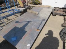 2X HEAVY DUTY WELDING TABLES/BENCHES sourced from company liquidation