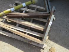 2 X PAIRS OF FORKLIFT TINES, UNTESTED