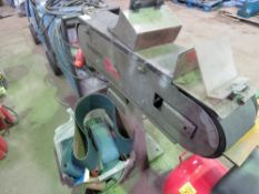 GRIMAX 3 PHASE POWERED BELT LINISHER sourced from company liquidation