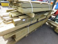 LARGE QUANTITY OF ASSORTED POSTS AND FENCING TIMBERS
