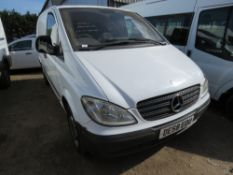 MERCEDES VITO PANEL VAN REG:DE58 EOU, 157,295 REC MILES. WHEN TESTED WAS SEEN TO DRIVE, STEER AND BR