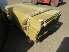 1 X PACK OF SHIPLAP TIMBER FENCE CLADDING @ 1.83M X 9CM WIDE X 1.5CM DEEP APPROX
