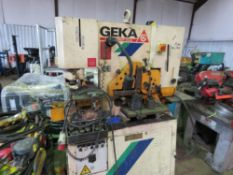 GEKA HYDRACROP 55/A CROPPING/PUNCH UNIT C/W SMALL AMOUNT OF TOOLING ETC AS SHOWN sourced from compa