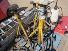 3X HEAVY DUTY AXLE STANDS 7.5 TONNE RATED sourced from company liquidation