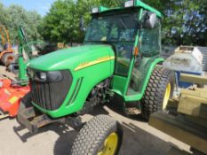 JOHN DEERE 4320 4WD TRACTOR WITH CAB, YEAR 2006, REG:SK56 AXP (LOG BOOK TO APPLY FOR), 3782 REC HOUR