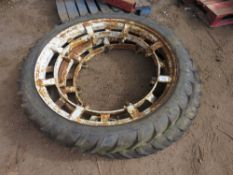 PAIR OF ROWCROP WHEELS EX FORD 7610 TRACTOR