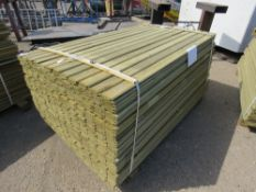 1 X PACK OF SHIPLAP TIMBER FENCE CLADDING, 1.73M X 9CM WIDE X 1.5CM DEEP APPROX
