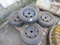 5no. 165/R70 14 wheels and tyres