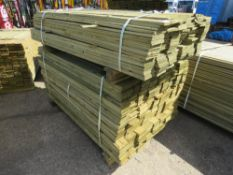 2 X PACK OF FEATHER EDGE FENCE TIMBER CLADDING 1@1.64METRE LENGTH X 10CM WIDE 1@1.5METRE LENGTH