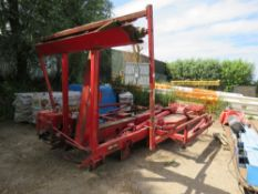 Edbro 8-wheel lorry hook lift equipment, removed from export vehicle