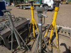4 X HIGH REACH 7.5TONNE RATED AXLE SUPPORT STANDS, EX COMPANY LIQUIDATION