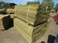 2 X PACK OF FEATHER EDGE FENCE TIMBER CLADDING @1.65METRE LENGTH X 10CM WIDE