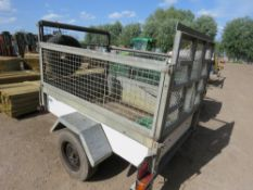 Challenger mesh sided trailer, 6ftx4ft approx. SN: SDH91564OWG042943
