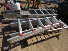 pallet containing 3 stepladders and 2 multi ladders sourced from company liquidation