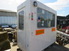 GRP SECURITY CABIN 7FT 6 LENGTH X 4FT APPROX sourced from company liquidation