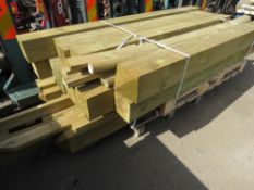 2 X PALLETS OF FENCE POSTS AND GATE POSTS ETC