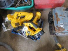 2no. Dewalt battery circular saws plus 2no. jigsaws