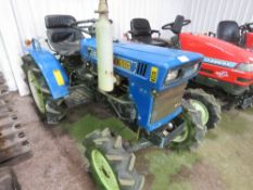 ISEKI TX1500 4WD COMPACT TRACTOR WITH REAR LINKAGE WHEN TESTED WAS SEEN TO START, DRIVE, STEER AND B