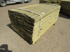 1 X PACK OF SHIPLAP TIMBER FENCE CLADDING @ 1.55M X 9CM WIDE X 1.5CM DEEP APPROX