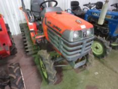 GB14 4WD 14HP HALF TRACK COMPACT TRACTOR WITH REAR LINKAGE WHEN TESTED WAS SEEN TO START, DRIVE, STE