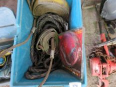 Box of straps and slings, untested
