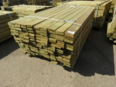 1 X PACK OF FENCE TIMBER CLADDING @1.75METRE LENGTH X 9.5CM WIDE APPROX X 0.8CM DEPTH APPROX
