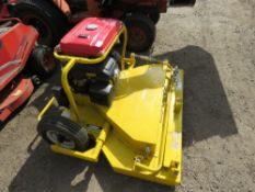 NEILSON 3FT6 CUT PETROL ENGINED QUADBIKE MOWER, WHEN TESTED WAS SEEN TO START AND RUN