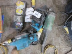 Electrical safety plugs plus planer and router