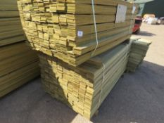 2 X PACK OF FENCE TIMBER CLADDING @1.75METRE LENGTH X 9.5CM WIDE APPROX X 0.8CM DEPTH APPROX