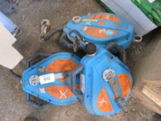 3X MANHOLE WINCH RECOVERY UNITS UNTESTED