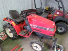 YANMAR KE2 4WD COMPACT TRACTOR WITH REAR LINKAGE WHEN TESTED WAS SEEN TO START, DRIVE, STEER AND BRA