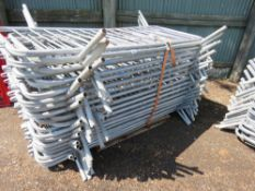 35 x metal pedestrian barriers approx................................... ADDITIONAL TERMS: All items