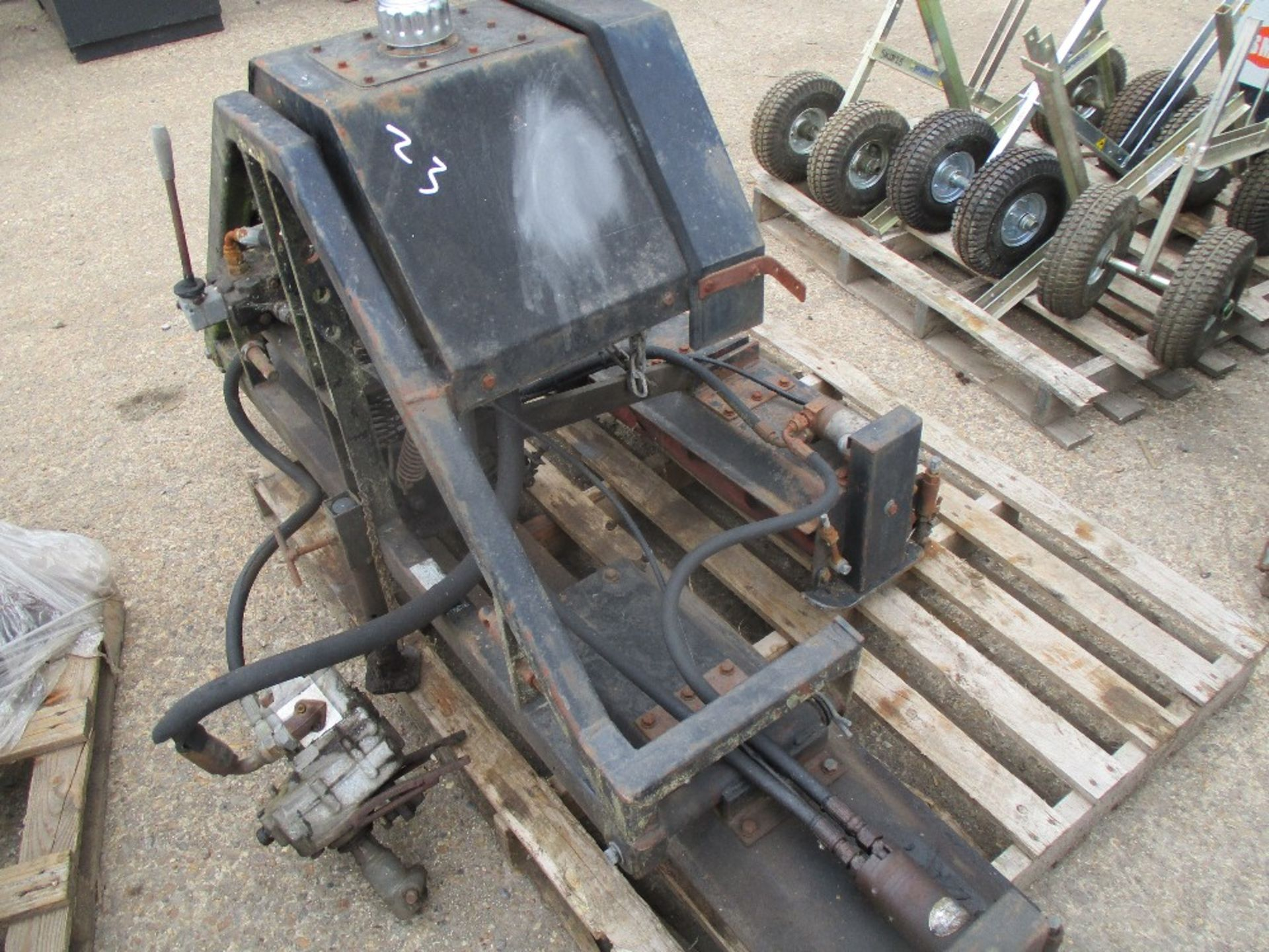 Lot 40 - Huxley gang mowers for compact tractor