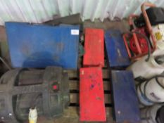 4no. Pipe bevelling machines in boxes plus electric bevelling tool, rhino fan etc