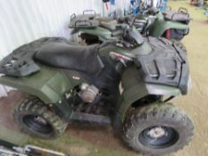 POLARIS SPORTSMAN PETROL 4WD QUAD BIKE. WHEN TESTED WAS SEEN TO START RUN AND DRIVE