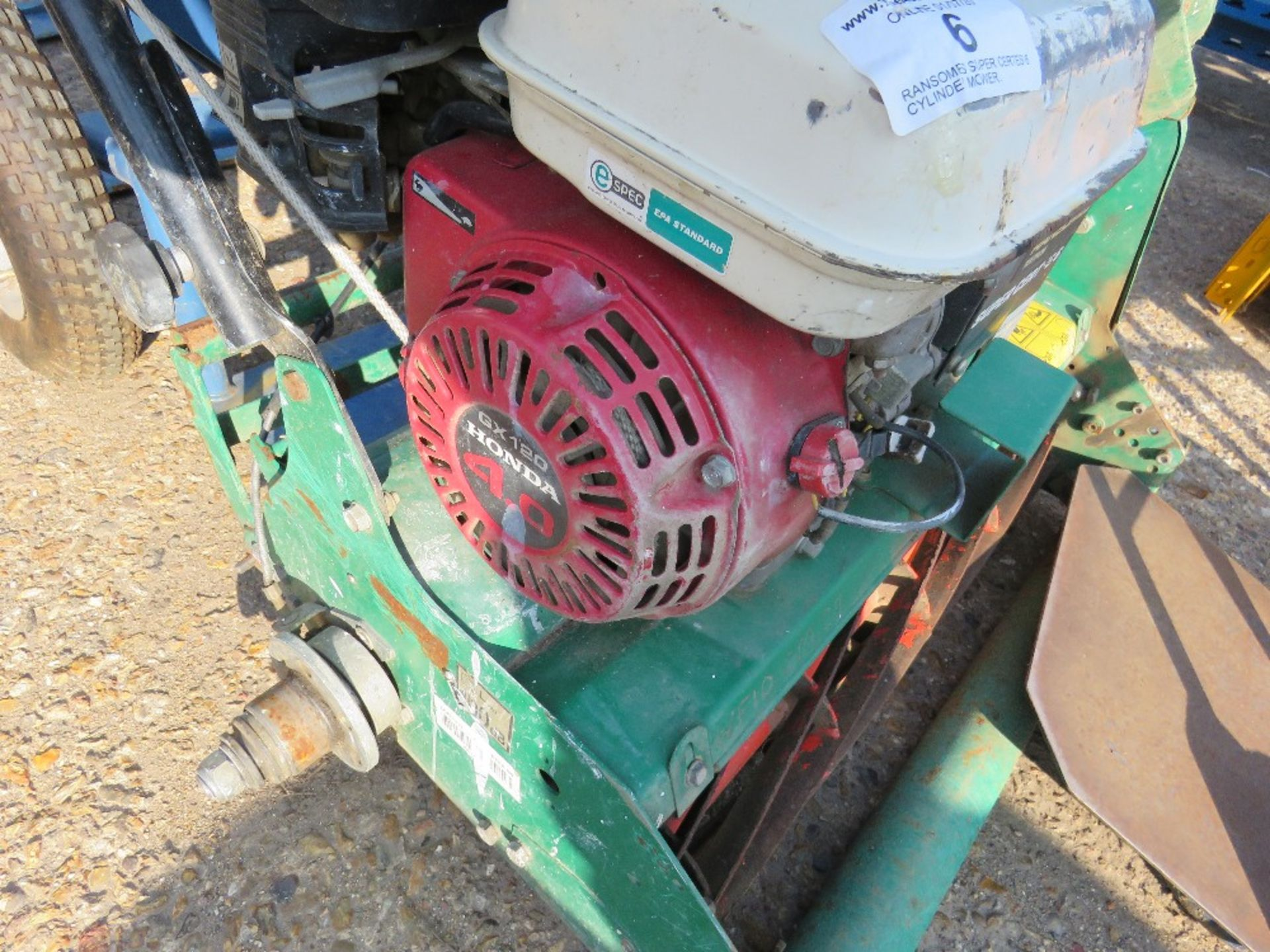 Lot 6 - RANSOMES SUPER CERTES 6 CYLINDER MOWER. WHEN TESTED WAS SEEN TO START AND RUN BUT NO DRIVE TO ROLLER