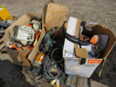 PALLET OF STIHL PETROL SAW AND MACHINE PARTS