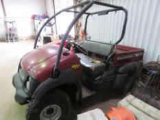 KAWASAKI 610 4WD PETROL MULE UTILITY VEHICLE, 4406 REC HRS. WHEN TESTED WAS SEEN TO START RUN AND