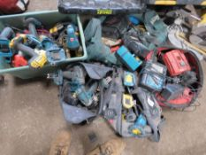 5 X BAGS OF ASSORTED POWER AND BATTERY TOOLS
