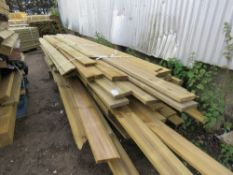LARGE PACK OF LONG LENGTH DECKING AND TIMBER BOARDS ETC