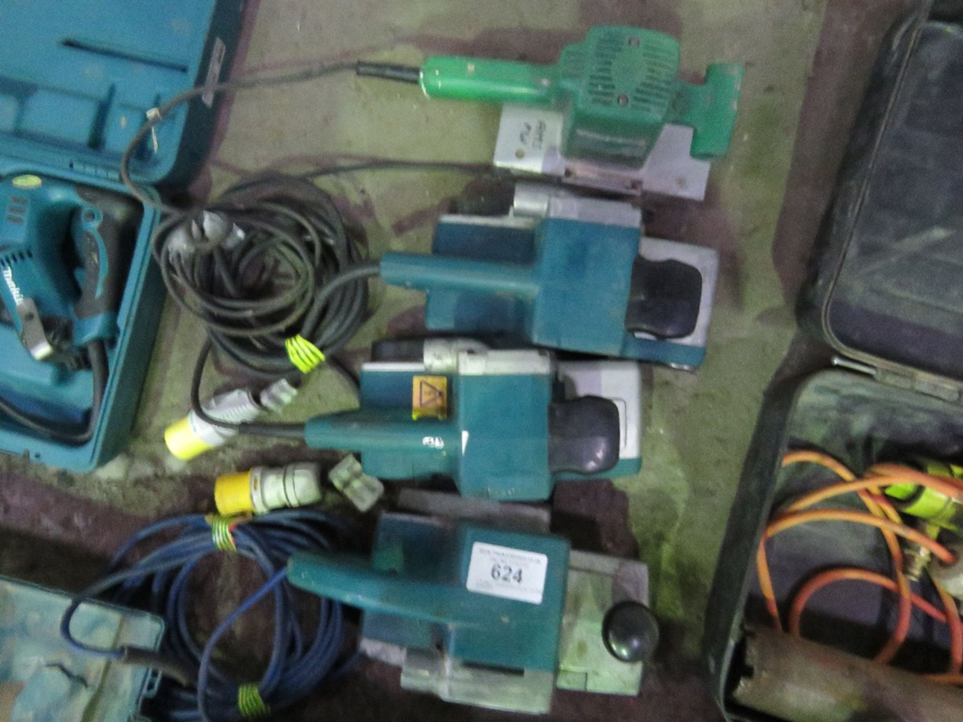 Lot 624 - 3 X BELT SANDERS PLUS 1 X PALM SANDER