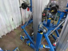 GENIE SLA10 2 SECTION CABLE OPERATED MATERIAL LIFT HOIST UNIT C/W FORKS, YEAR 2018 BUILD, DIRECT EX