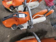 STIHL TS410 PETROL SAW. WHEN TESTED WAS SEEN TO RUN AND SHAFT TURNED