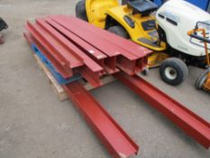 2 PALLETS CONTAINING RSJ AND CHANNEL STEELS RANGING FROM 6-12FT LENGTH APPROX NO VAT ON HAMMER PRI