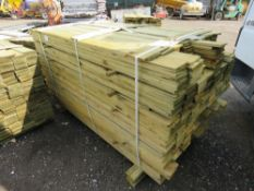 LARGE PACK OF FEATHER EDGE CLADDING TIMBER 1.6 - 1.75 METRES LENGTH APPROX X 10CM WIDE