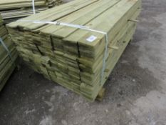 LARGE PACK OF FEATHER EDGE CLADDING TIMBER 1.65METRES LENGTH X 10CM WIDE