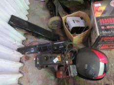 Petrol pressure washer, radios, speakers and motorbike box